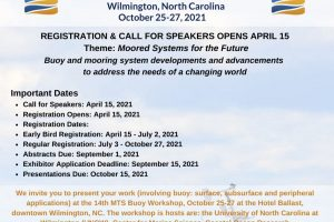 """Marine Technology Society (MTS) 2021 Buoy Workshop: """"Moored Systems of the Future"""""""